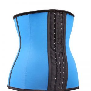 Kim Kardashian waist trainer blue color