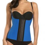 P506 Colombian Latex Waist Trainer Vest with Straps Perfect Curves Cincher for Weight Loss Blue Colo