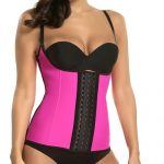 P506 Colombian Latex Waist Trainer Vest with Straps Perfect Curves Cincher for Weight Loss Pink Color