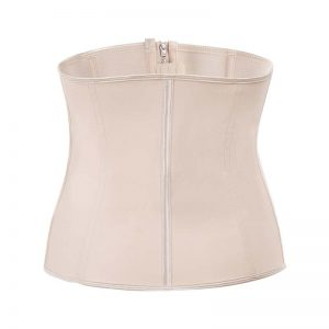 p503 latex waist trainer with zipper color beige 1