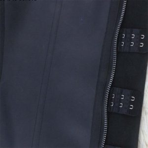 p503 latex waist trainer with zipper hook closure with zipper