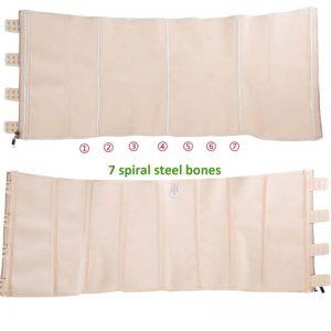 p503 latex waist trainer with zipper steel bones structures