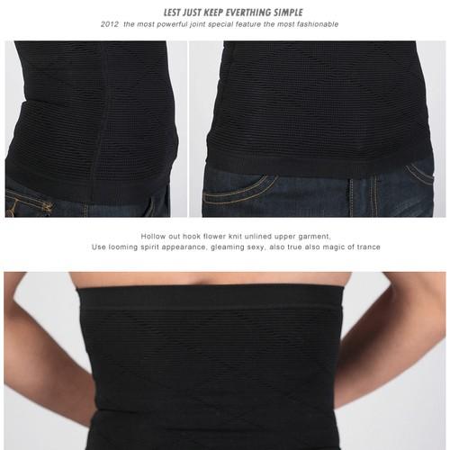 P518 Male Waist Trainer Belt Weight Loss High Compression Body Shaper Undergarment Display 2