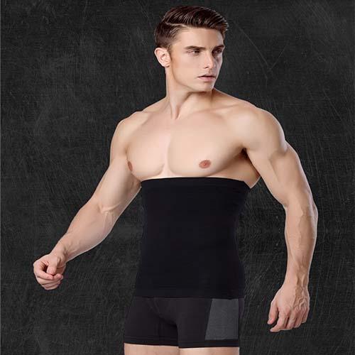 P518 Male Waist Trainer Belt Weight Loss High Compression Body Shaper Undergarment model 2