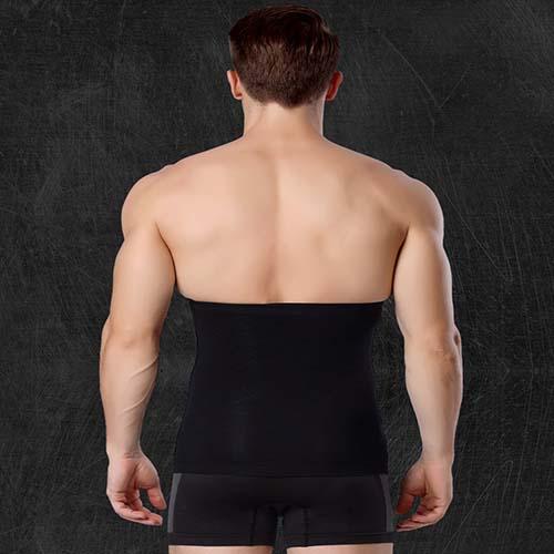 P518 Male Waist Trainer Belt Weight Loss High Compression Body Shaper Undergarment model 4