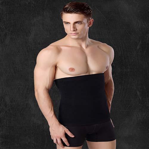 P518 Male Waist Trainer Belt Weight Loss High Compression Body Shaper Undergarment model 6