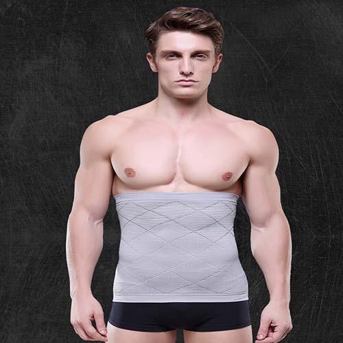 P518 Male Waist Trainer Belt Weight Loss High Compression Body Shaper Undergarment model 7