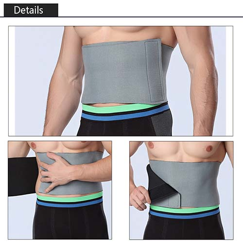 P520 Male Latex Waist Trainer Band Best Hot Shapers Spandex Weight Loss Girdle For Men Product Display