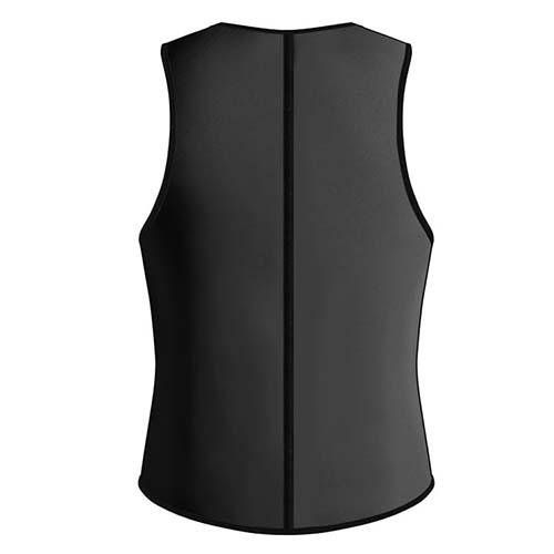 P521 Zipper Male Waist Trainer Ultra Thermo Sweat Neoprene Weight Loss Full Body Shaper Corset Reversible Vest Display 1