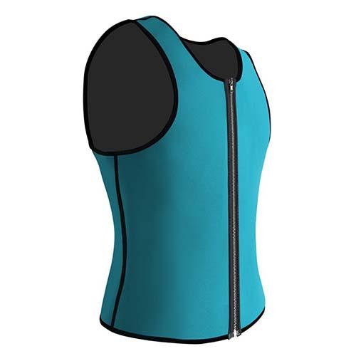 P521 Zipper Male Waist Trainer Ultra Thermo Sweat Neoprene Weight Loss Full Body Shaper Corset Reversible Vest Display 5