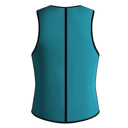P521 Zipper Male Waist Trainer Ultra Thermo Sweat Neoprene Weight Loss Full Body Shaper Corset Reversible Vest Display 9