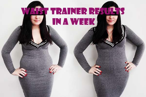 latex waist trainer results before and after