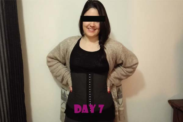 latex waist trainer results day 7