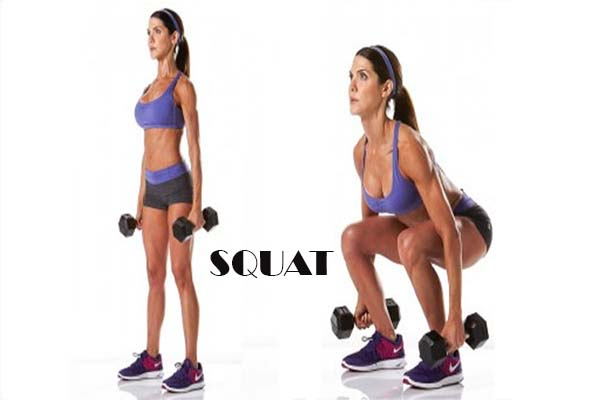 waist trainer exercises- squat workout