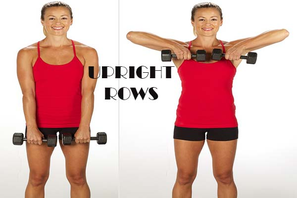 waist trainer exercises- upright rows workout